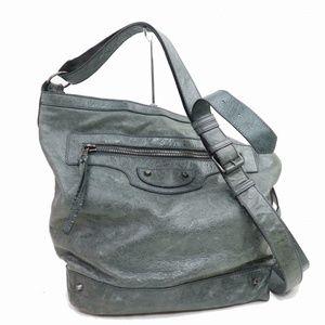Auth Balenciaga Crossbody Bag Grays #910O10